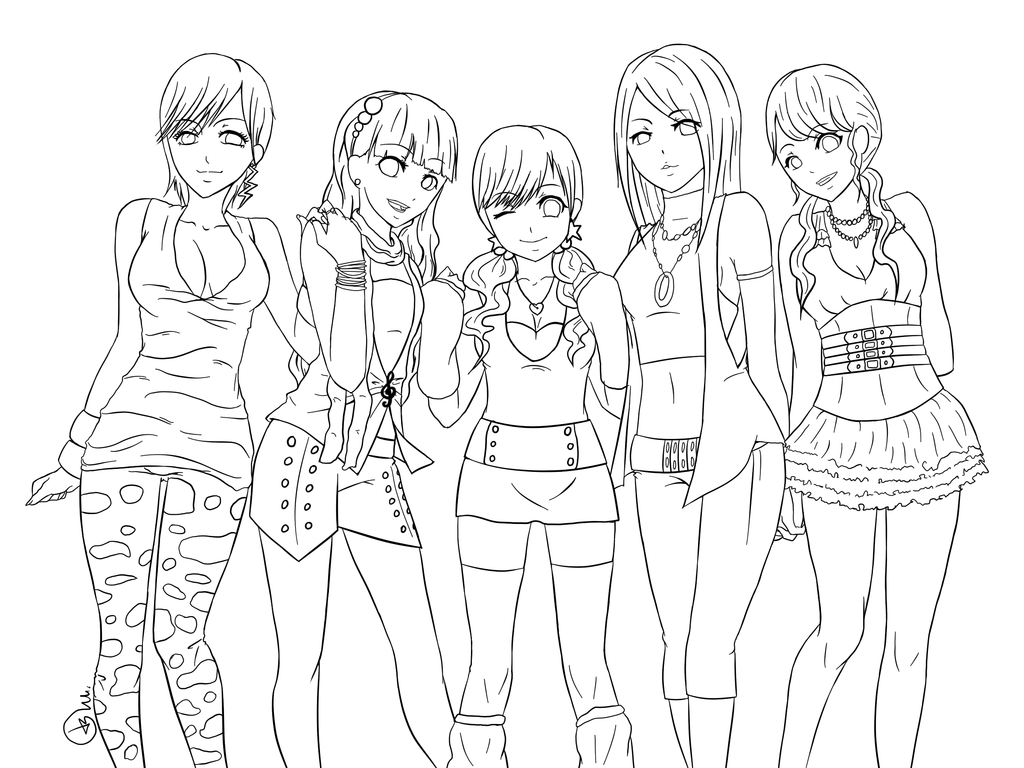 Anime Coloring Pages | Lineart/ Coloring Pages | color and draw ...