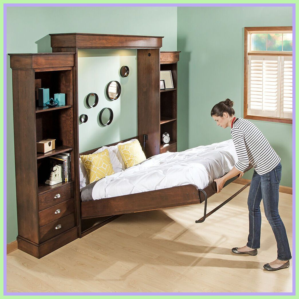 37 reference of queen size horizontal murphy bed kit in