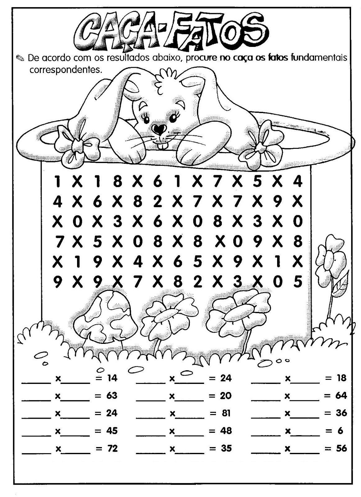 Fabuloso 37 Atividades Educativas de Multiplicação | Atividades de  PM51