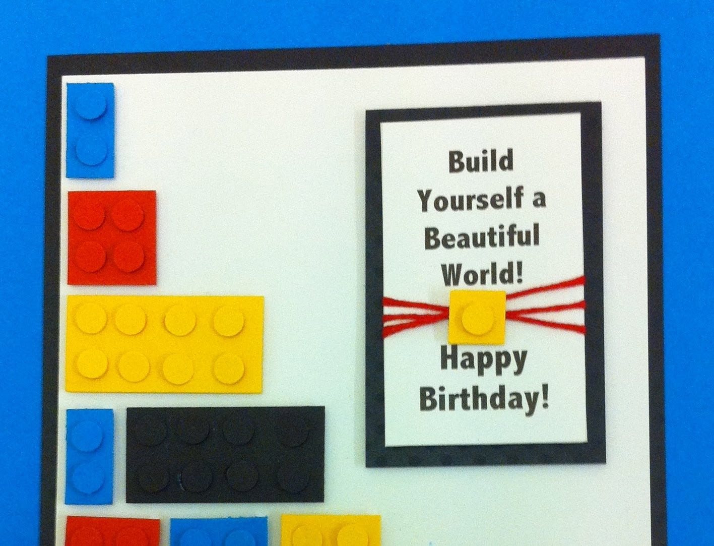 A Birthday Card For Anyone That Loves Lego Tutorial With