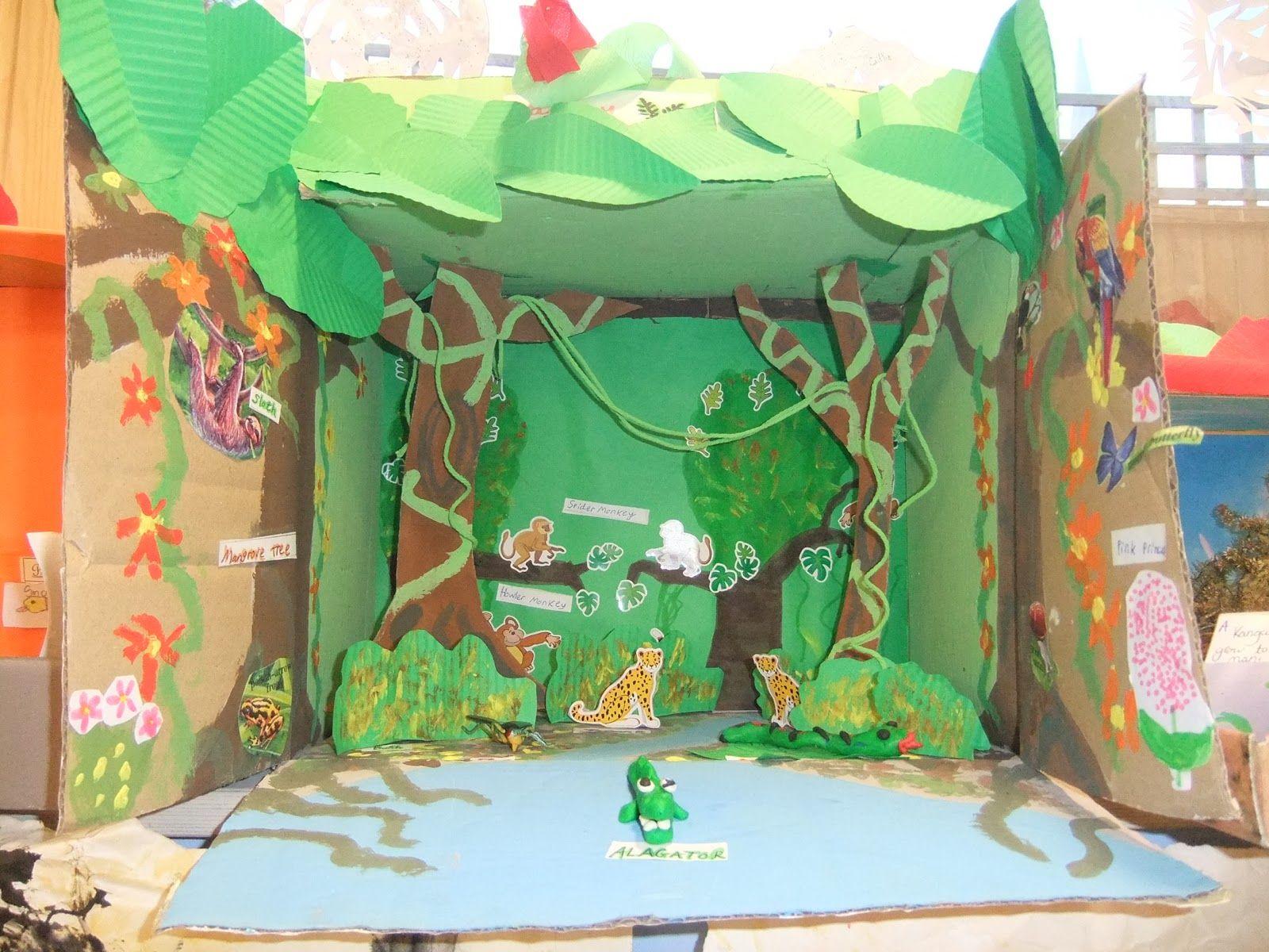 Shoebox animal habitat kool kid krafts pinterest for Habitat container