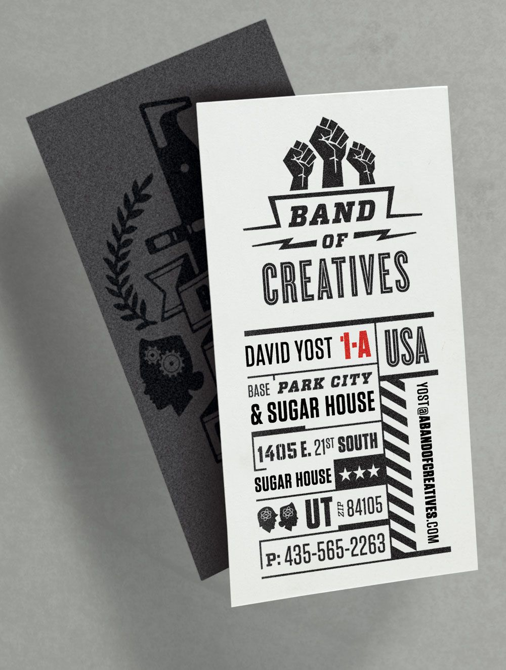 The Tenfold Collective for Band of Creatives business card design ...