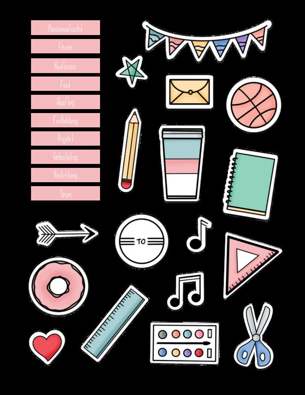 Back To School Sticker Aufkleber Gestalten