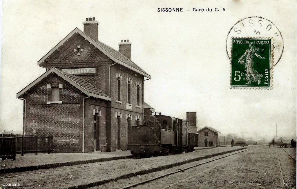Sissonne 02 cartes postales anciennes train for Sissonne 02