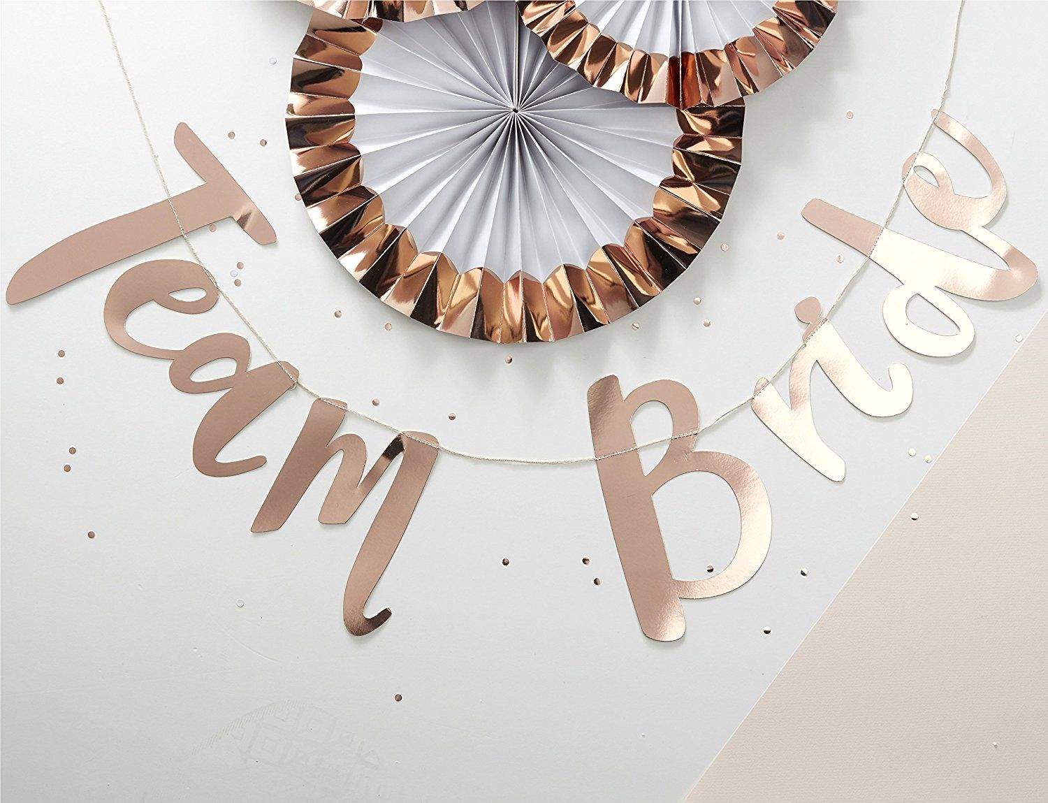 Ginger Ray Team Bride Classy Rose Gold Hen Party Backdrop Banner ...