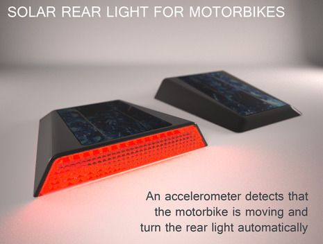 SOLAR REAR LIGHT FOR MOTORBIKE | Quirky