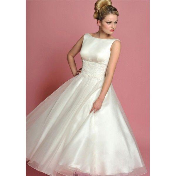 Vintage Boat Neckline Sleeveless Tea length Dress   Formal or Fancy ...