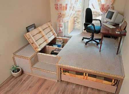 30 Decorative Raised Floor Designs Defining Functional Zones And Adding  Storage Space