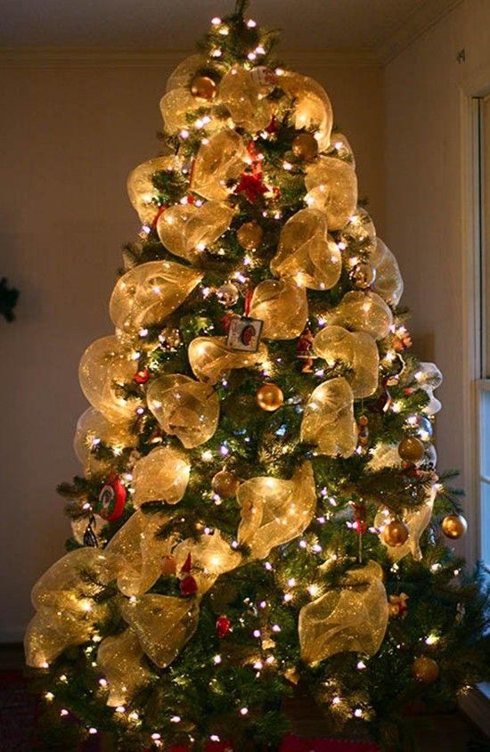 2014 Deco Mesh Christmas Tree. So much fun to make! - Fashion Blog ...