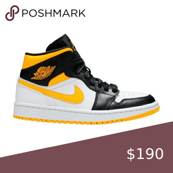 Jordan 1 Mid Laser Orange Womens Shoes Sneakers Jordan 1 Mid Jordans