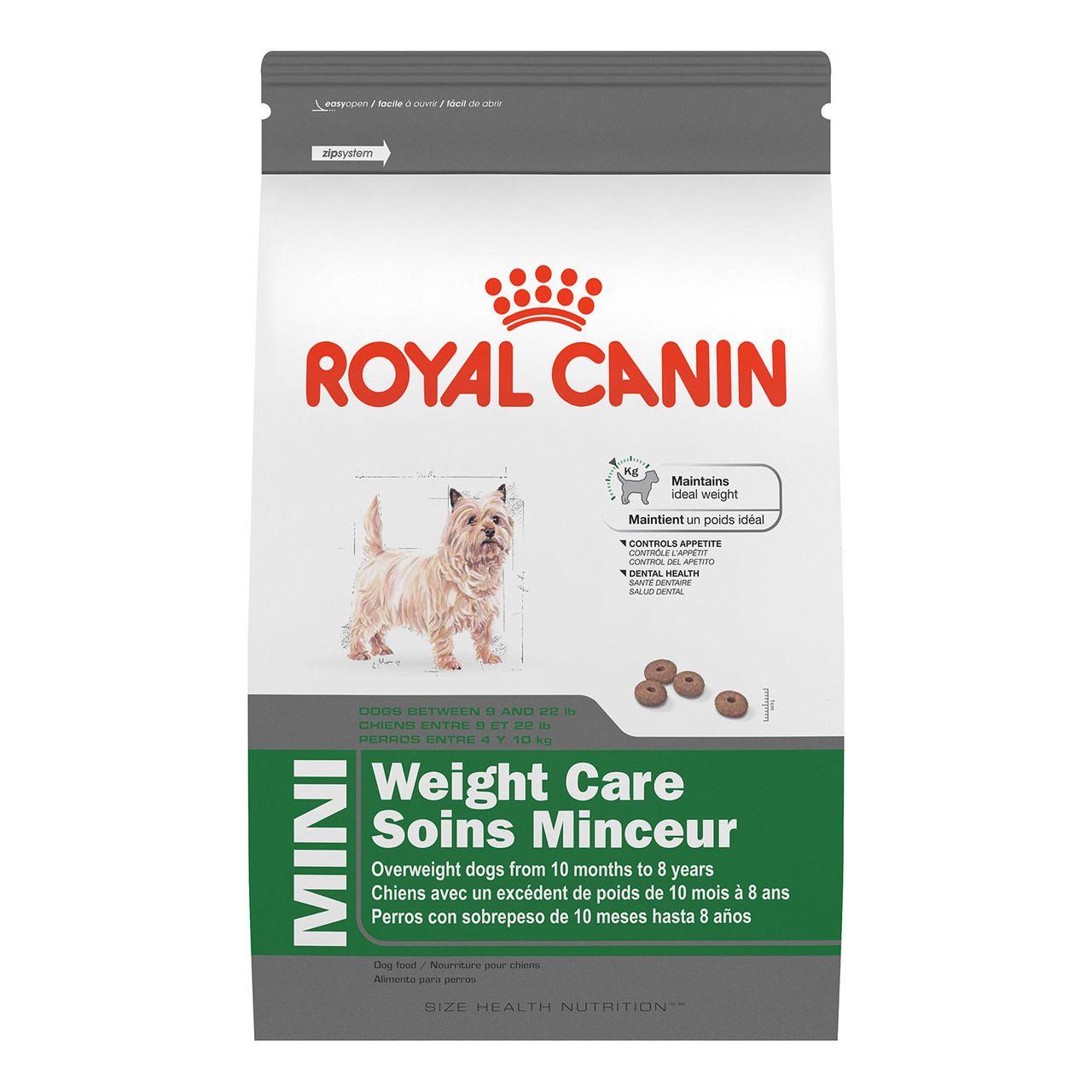 Royal Canin Mini Weight Care Dog Food 2 5 Lb Dog Pet Supermarket Pet Supermarket Dry Dog Food Dog Food Recipes