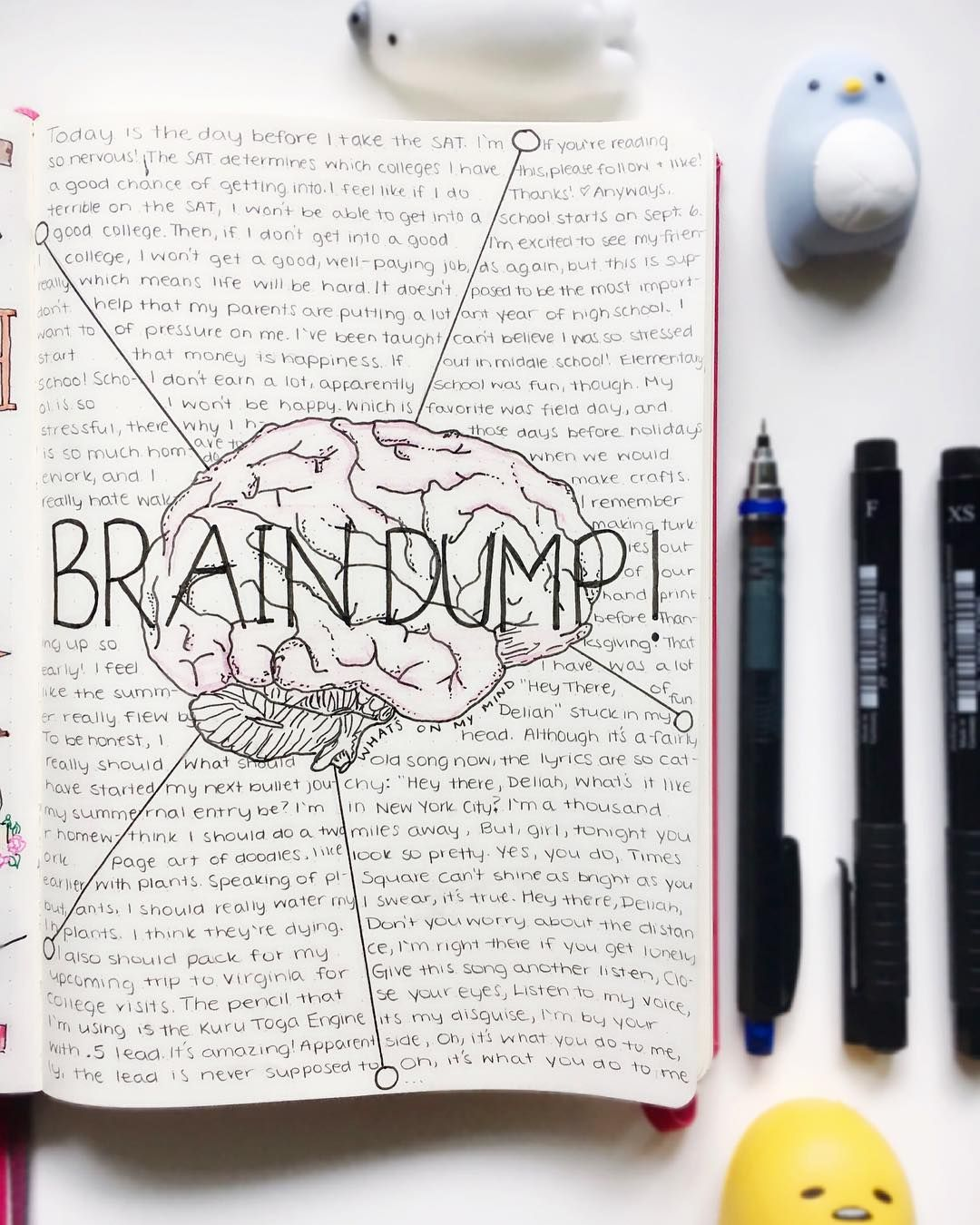 Using My Bullet Journal To Do A Brain Dump