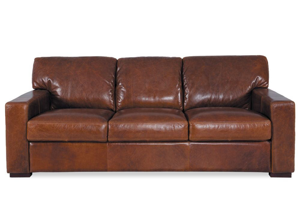 Estate 3 Seater Leather In Oppulent Leather   Plush Sofas $4500 ( .4u003d
