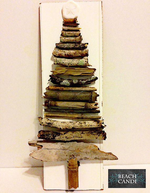 Bead Board, Driftwood Christmas Tree with Sanddollar, Home Decor