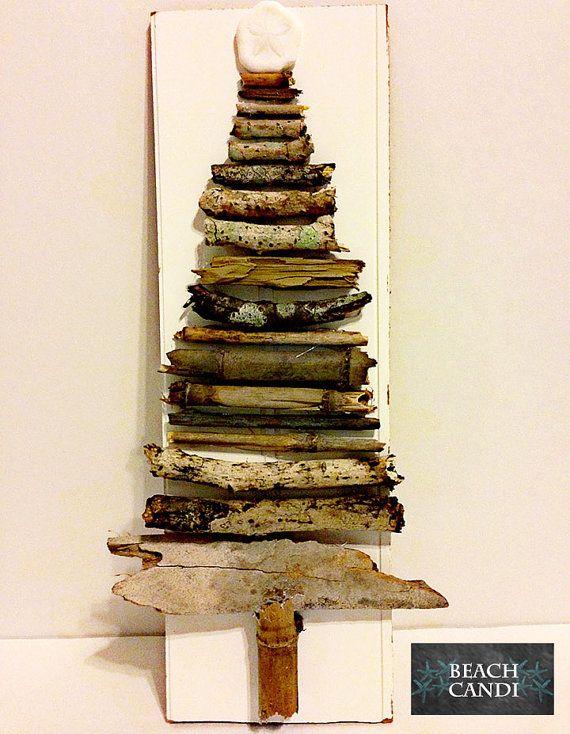 Bead Board, Driftwood Christmas Tree with Sanddollar, Home Decor