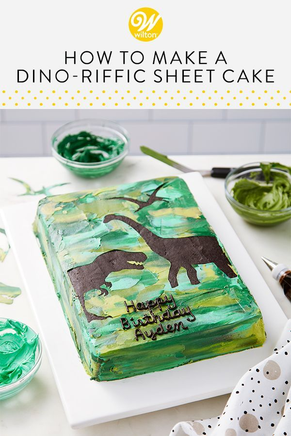 Photo of Dino-riffic Sheet Cake