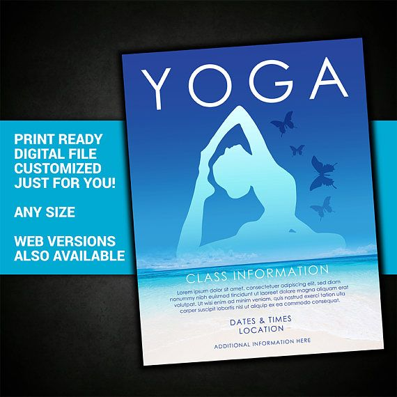 Yoga Class Flyer Yoga Class Yoga Class Yoga Flyer Yoga  My Print