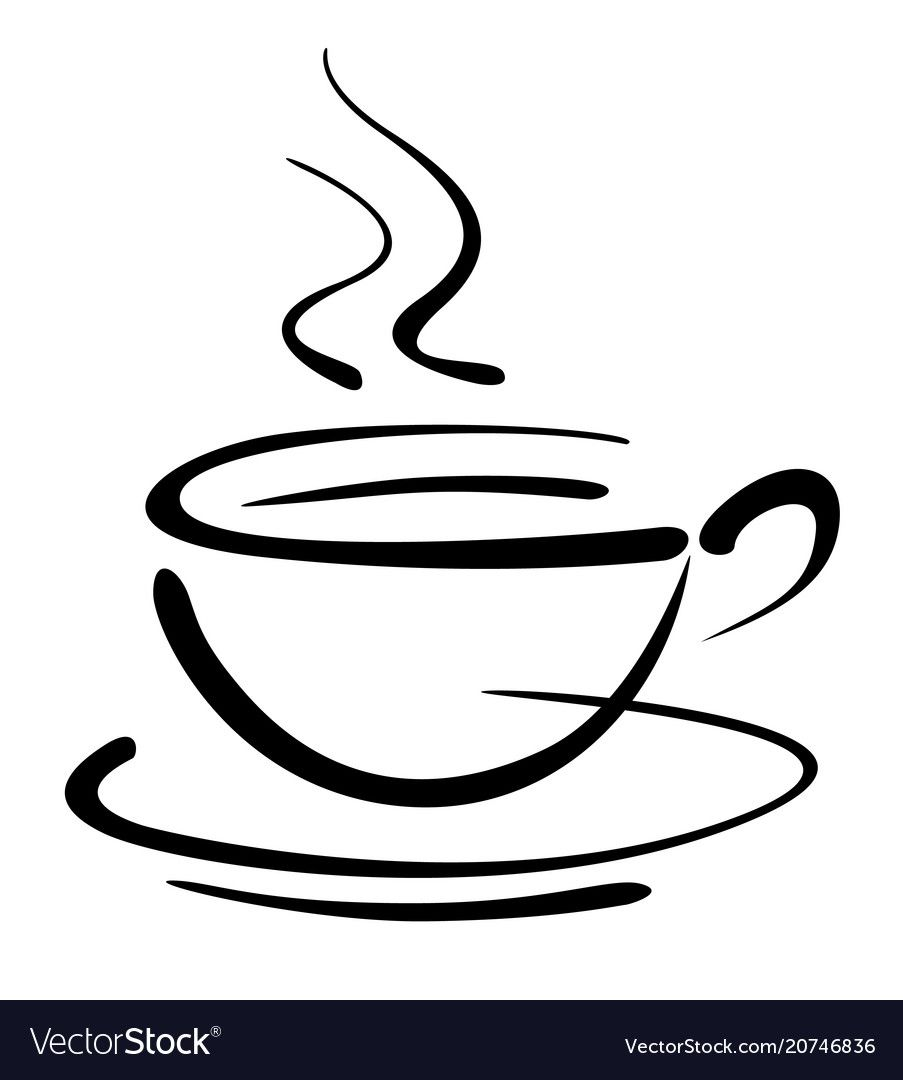 25+ Cup Of Coffee Clipart Black And White