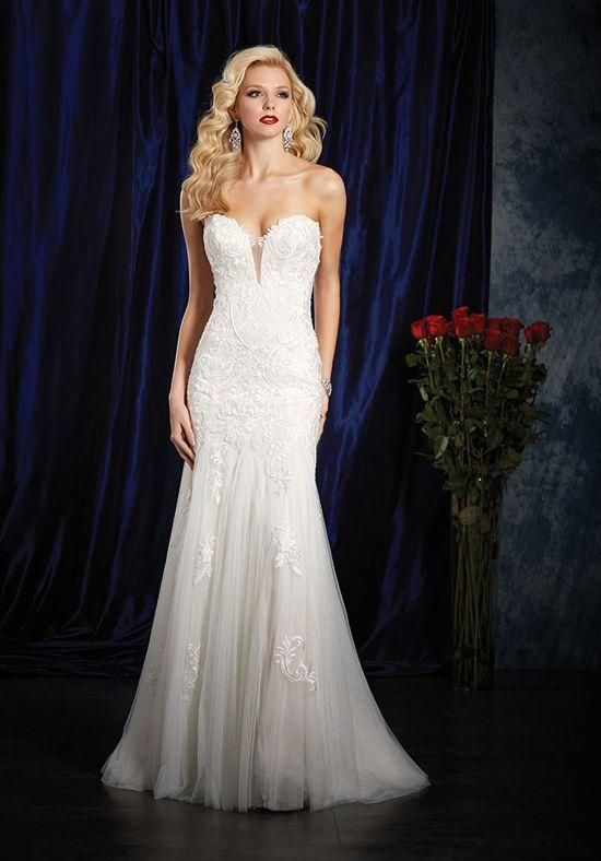 eed04934146 Alfred Angelo  984  size 14 new wedding dress front view on model