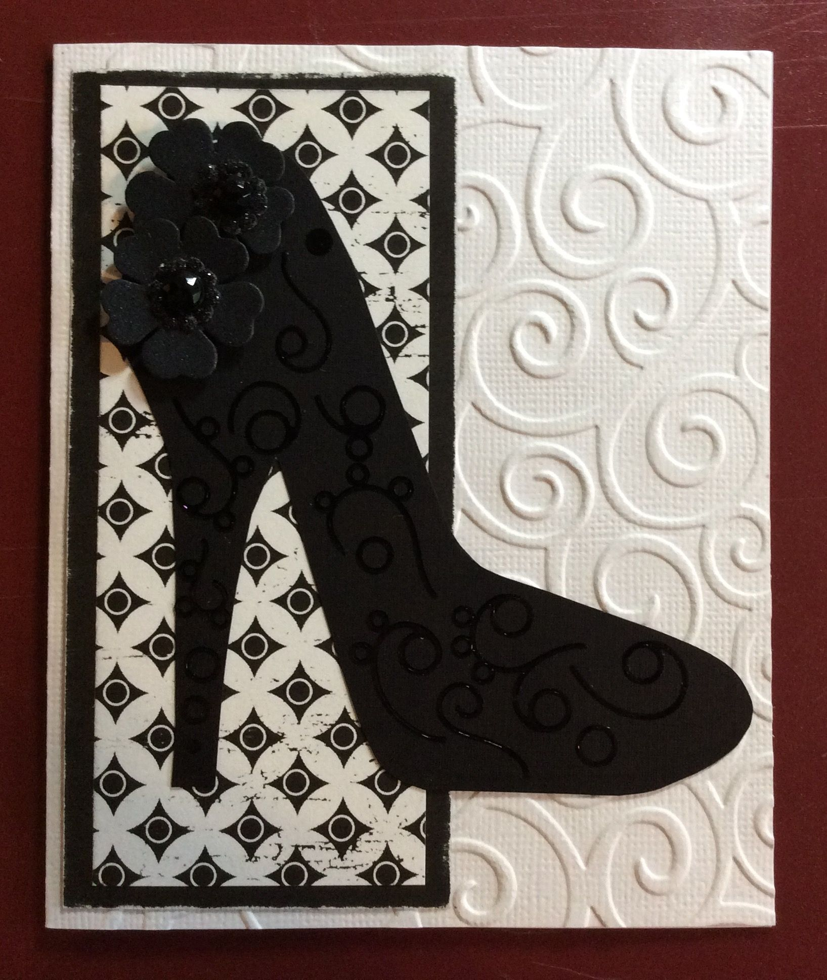 Stiletto Shoe Template Card Two I Love This One Handmade Birthday Cards Shoe Template Cards