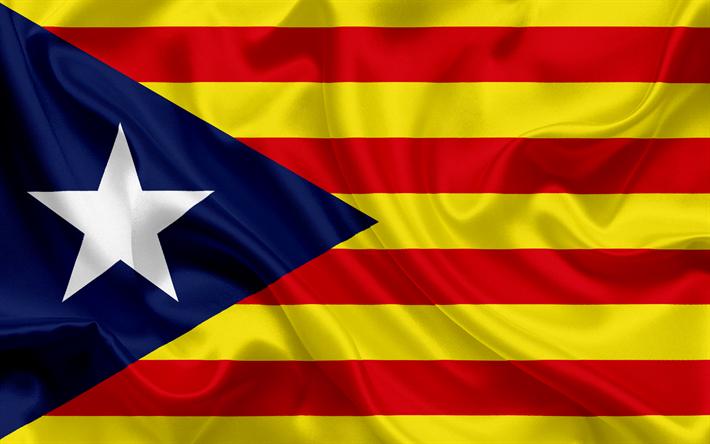 Lataa kuva Lippu Katalonian, Espanja, Katalonia, puna-keltainen lippu, kansalliset symbolit