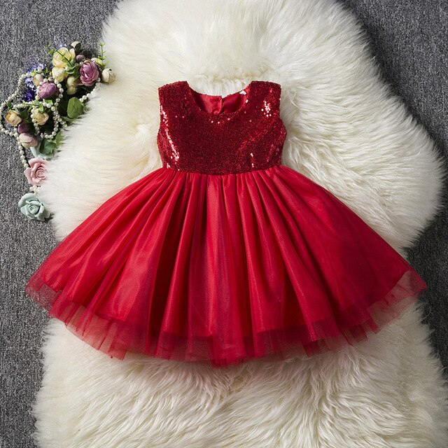 Kids Baby Girl Formal Party Dress Clothes