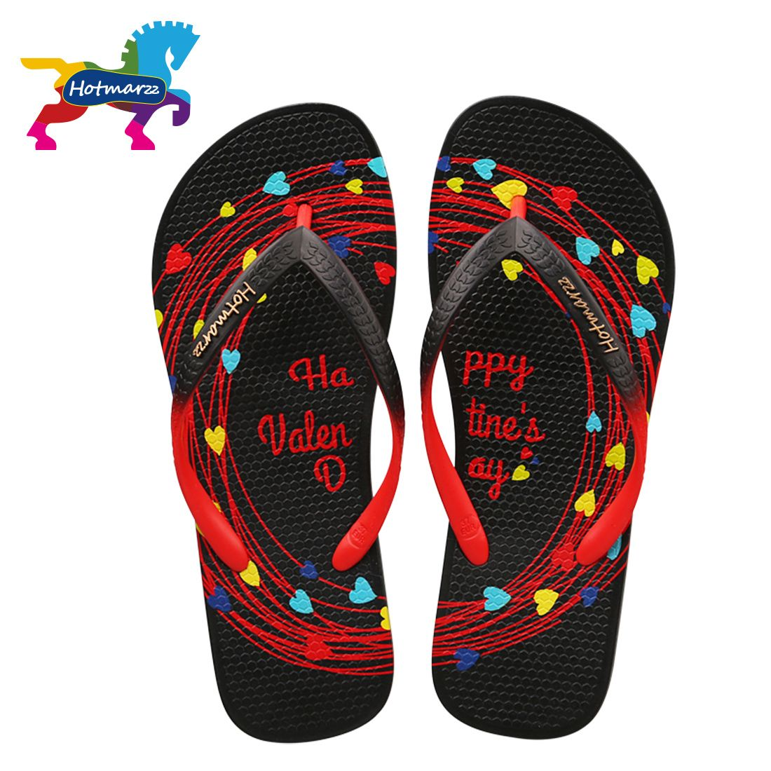 Unisex Non-slip Flip Flops Orange Poker Cool Beach Slippers Sandal