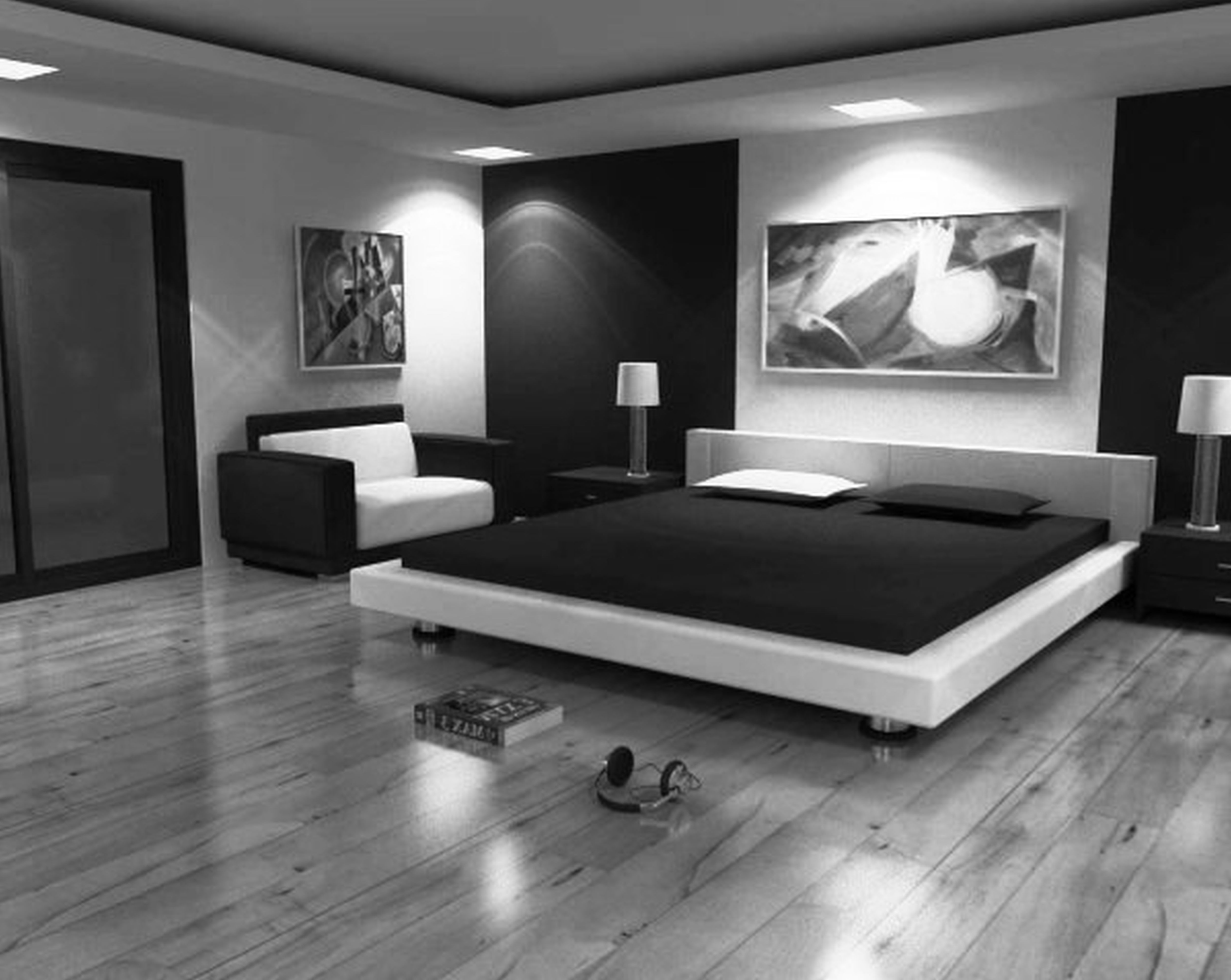 Black And White Bedroom With Black And White Bedroom 2016 Decorating Ideas Jpg 5000 3983 Schlafzimmer Design Zimmer Wohnung