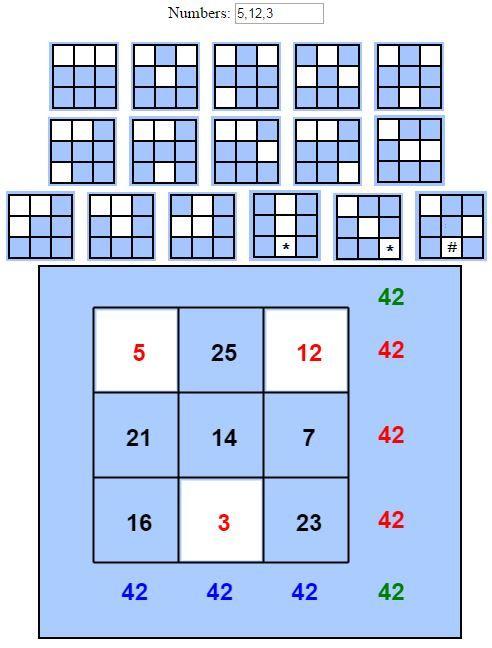 magic square solver math puzzles pinterest maths puzzles