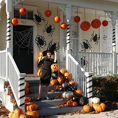Halloween decorations  IDEAS  INSPIRATIONS Halloween Porches - office halloween decorating ideas