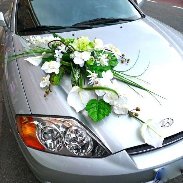 decoration voiture blanche mariage. Black Bedroom Furniture Sets. Home Design Ideas