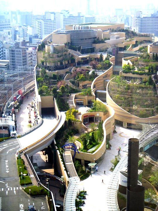 Namba Parks, Osaka, Japan  #architettura #giappone