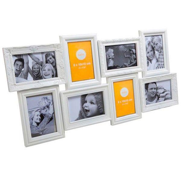 Magic 8 Multi Photo Frame - white collage wall frame | Janie\'s ...