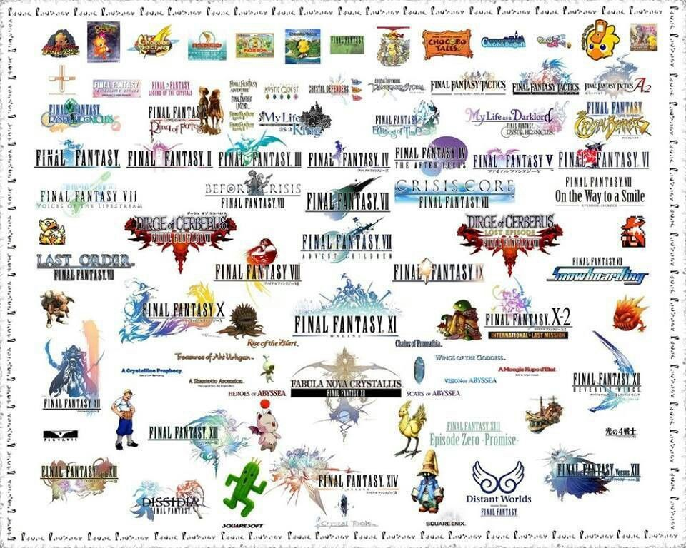 Final Fantasy franchise Final fantasy logo, Final