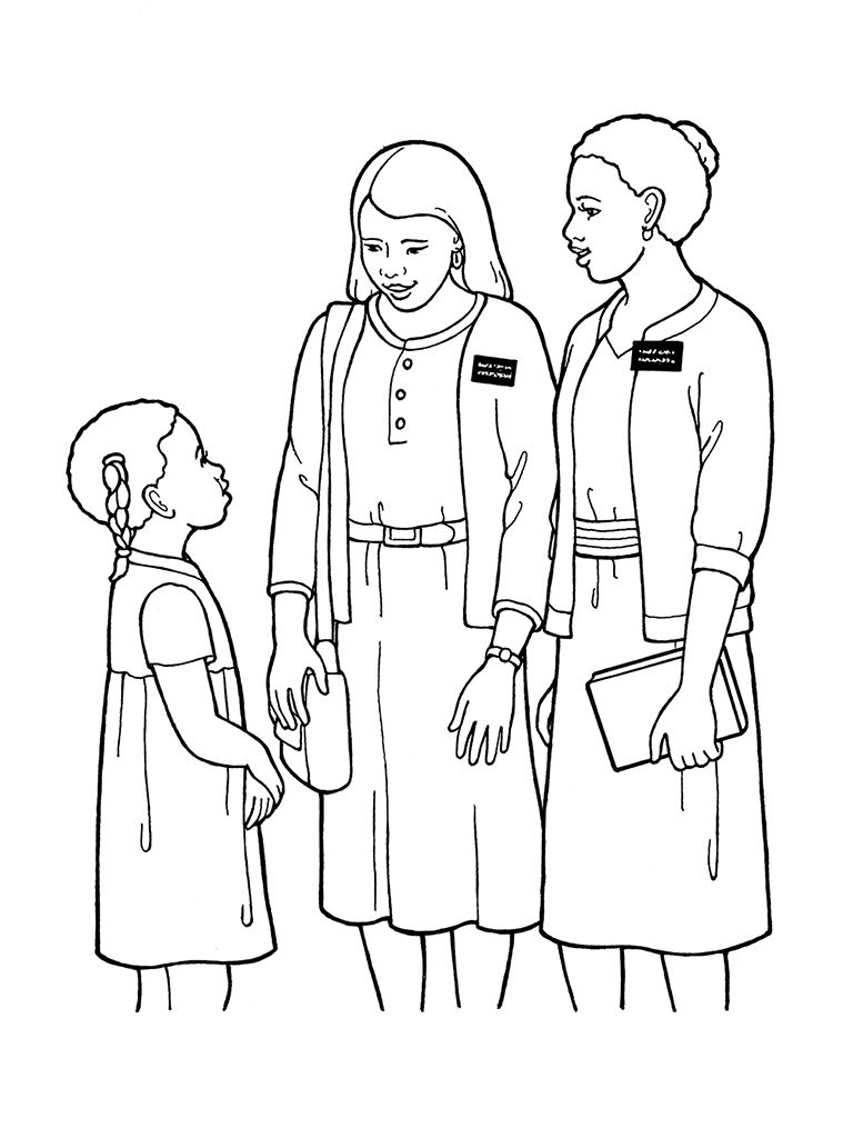 Great clipart of sister missionaries | Church, primary, and FHE ...
