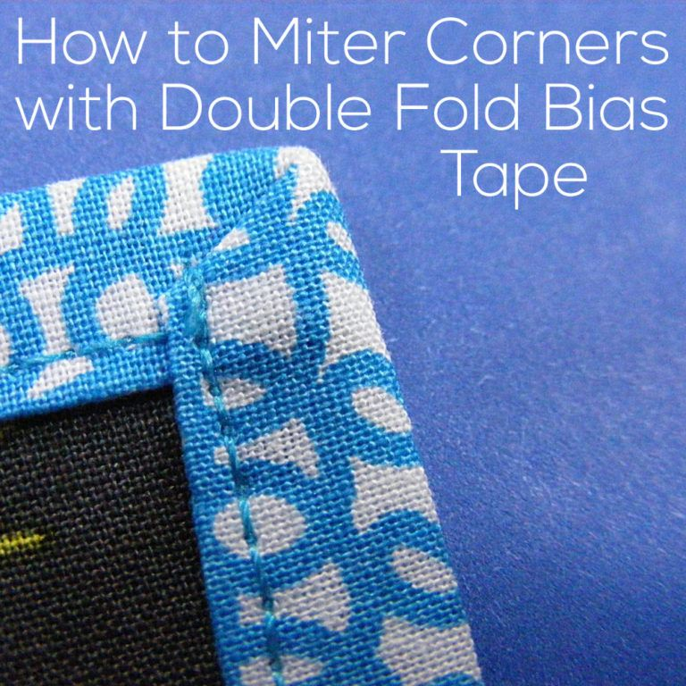 How To Miter Corners With Double-Fold Bias Tape