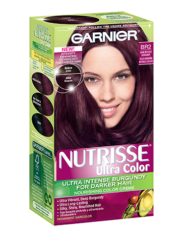 br2 - dark intense burgundy hair
