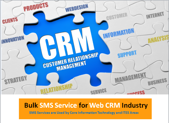 Bulk SMS Service for Web CRM Industry