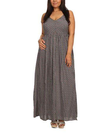 Look at this #zulilyfind! Black Floral Lattice Side-Slit Maxi Dress - Plus #zulilyfinds