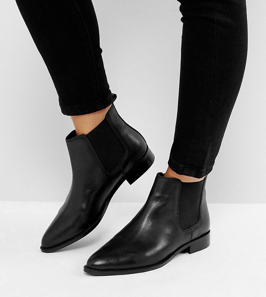 AUTOMATIC Leather Chelsea Boots - Black leather Asos