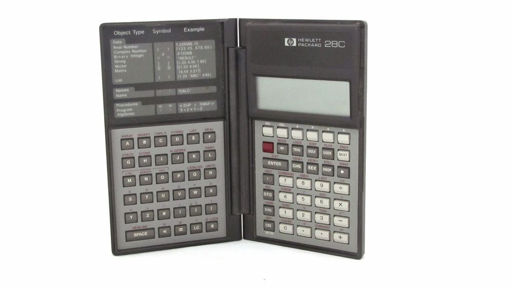 Vintage Hp 28c Hewlett Packard The Scientific Calculator Professional And Manual