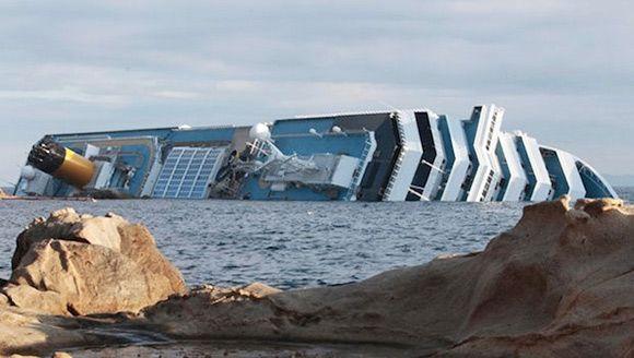 Costa Concordia Shipwreck From Space With Images Concordia Shipwreck Italian Cruises