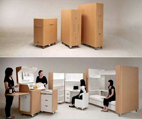 Amazing Fold Out Bed, Kitchen, And Desk By Toshihiko Suzuki Architect Sweet