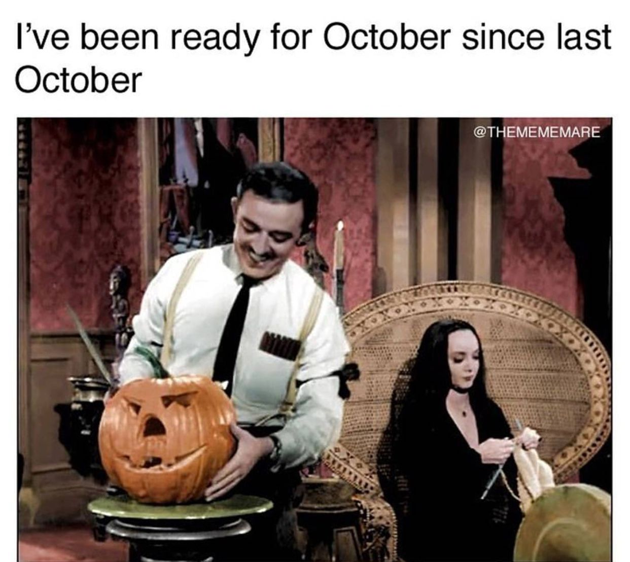 I Ve Been Ready For October Since Last October Funny Halloween Memes Halloween Memes Halloween Funny