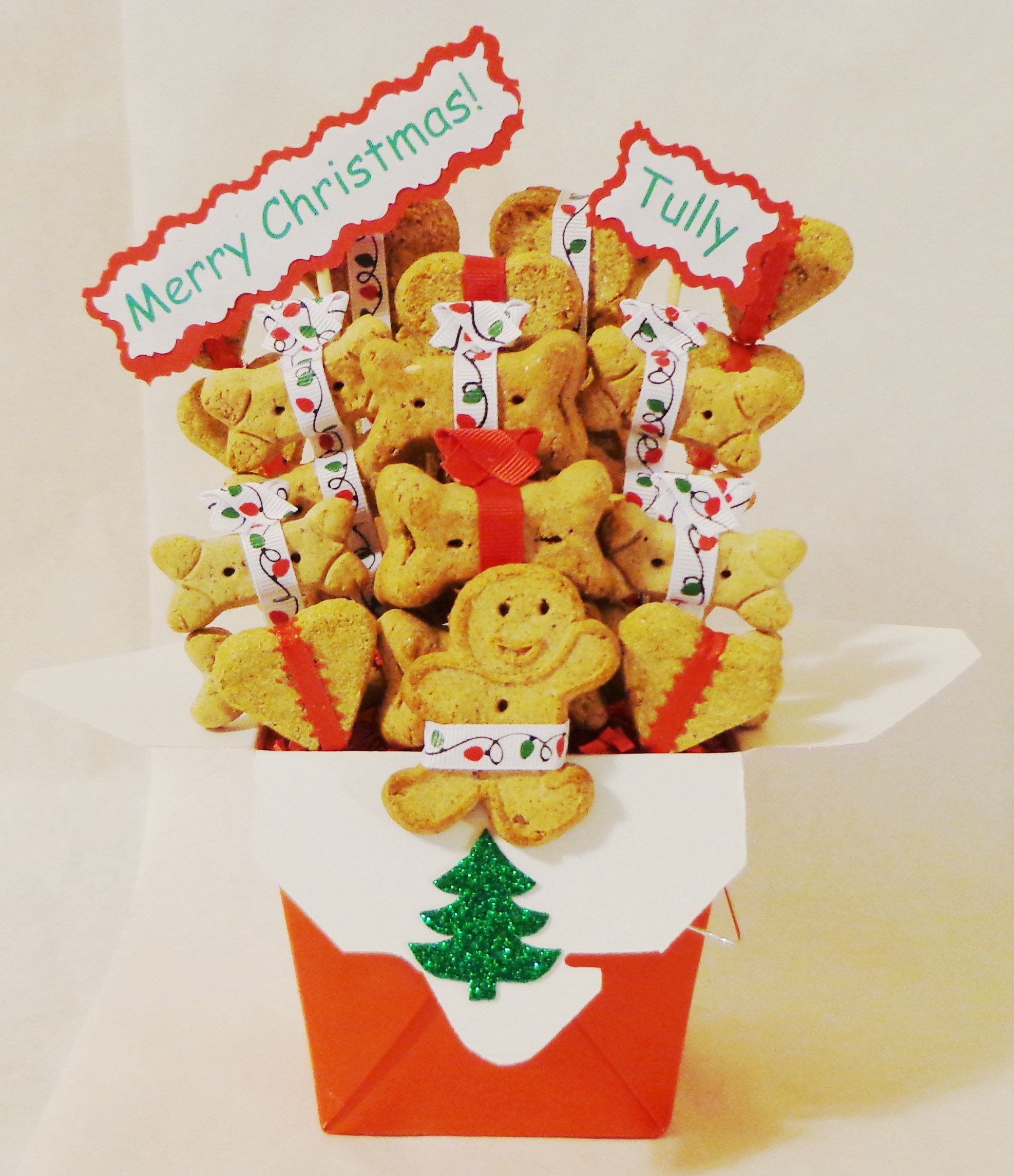 Christmas Dog treat gift basket, Christmas dog treats, dog biscuits ...