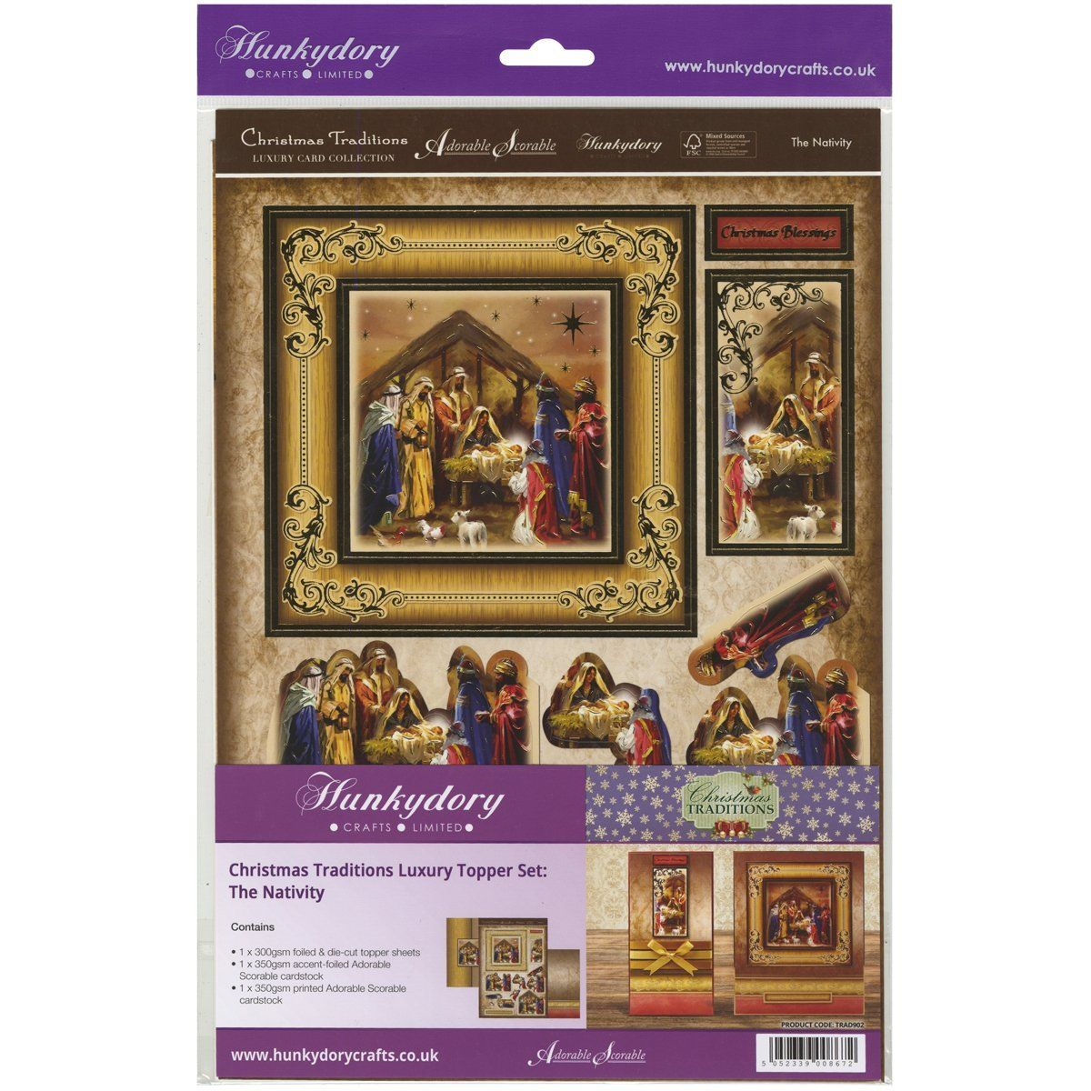 Nice Amazon Card Making Part - 14: Amazon.com: Hunkydory Christmas Traditions Topper Set - The Nativity Kit  FOIL Card Making