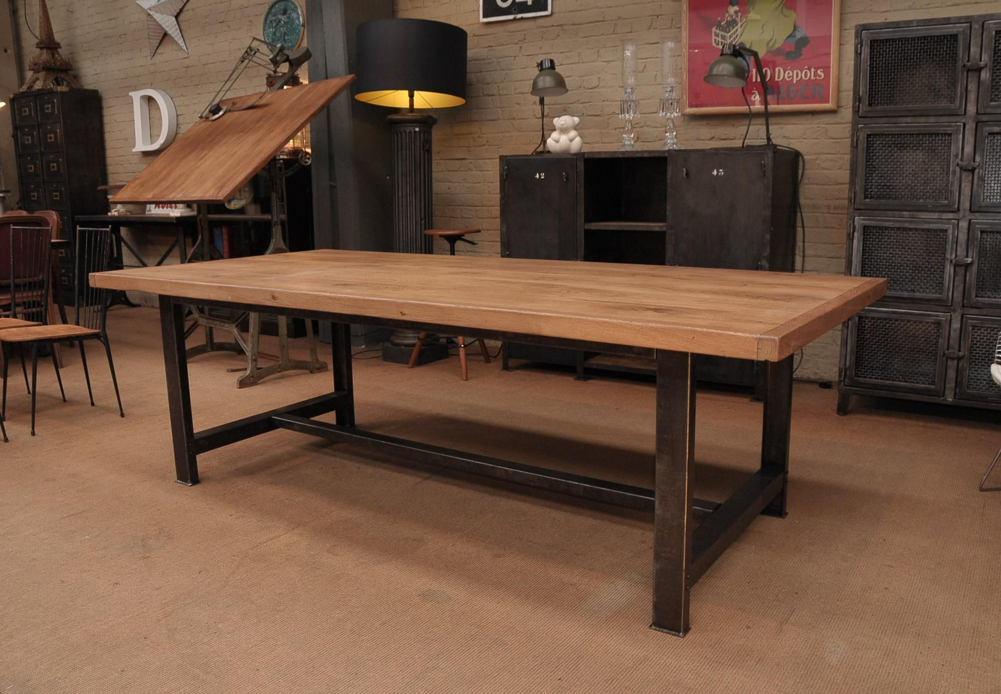 popular-industrial-dining-table-made-of-solid-oak-wood-top-and-in