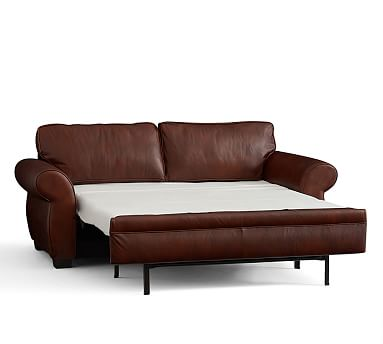 Pearce Down Leather Deluxe Sleeper Sofa Vintage Midnight ...