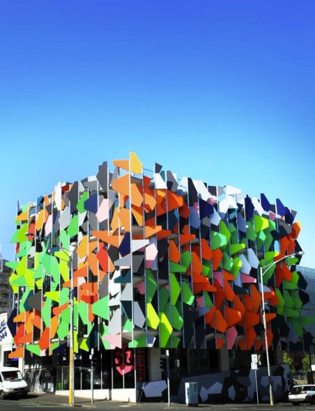 Pixel Building, Melbourne, Australia.  Pixel is the first carbon neutral office building in Australia. Beyond energy efficiency, all power and water are generated directly on site.