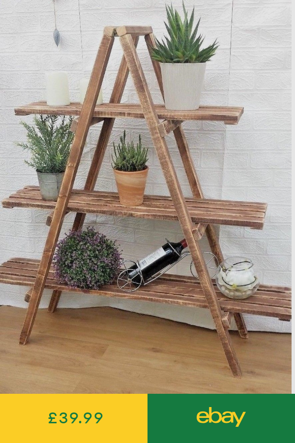 Bookcases Shelving Storage Home Furniture Diy Ebay Wooden Ladder Shelf Ladder Shelf Decor Wooden Ladder Decor